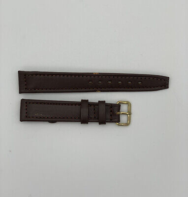 Vintage open ended genuine Leather Watch strap by Sonit