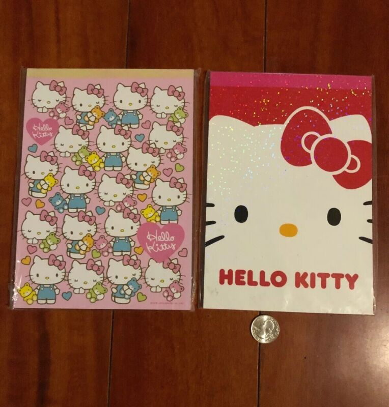 Hello Kitty Large Letter Pads, Set of 2