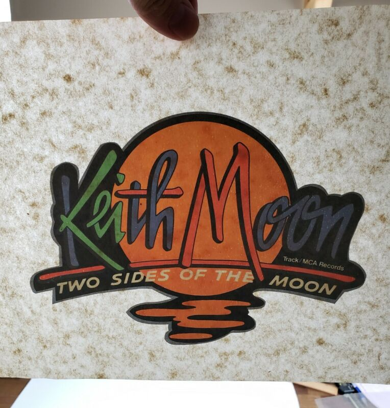 Keith Moon-Two Sides of The Moon-ORIG. 1975 MCA PROMO T-Shirt Transfer-The Who!