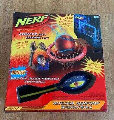 New Hasbro Nerf Nite Jam Nerfoop Basketball Set  Basketball Vortex Howl Football
