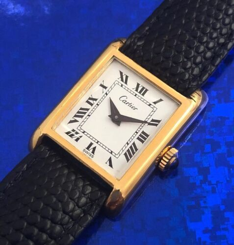 Ladies Cartier Hand Wind Wristwatch Roman Numerals , Fully Serviced w/ WARRANTY