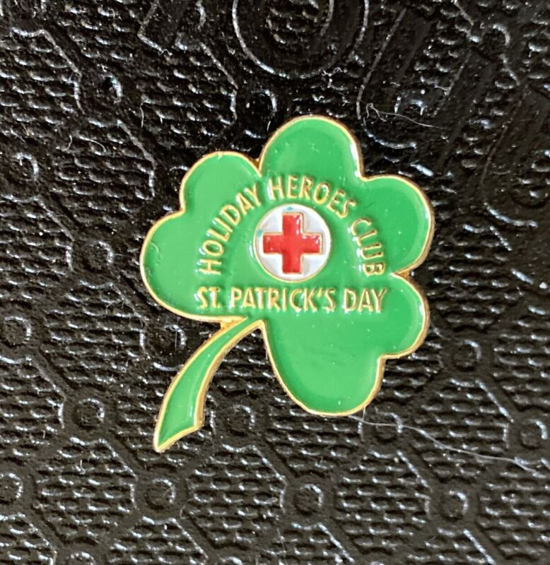 American Red Cross Pin St Patrick's Day Holiday Heroes Club Pin