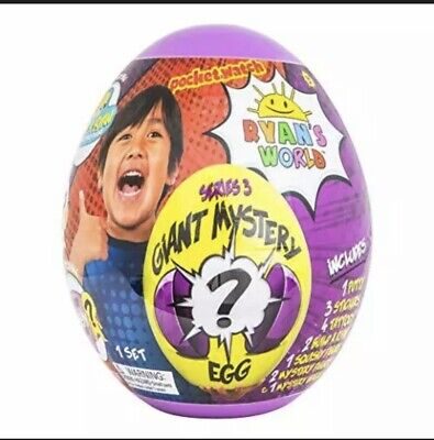 NEW Sealed Ryan's World Giant Mystery Egg Series 3 (Purple)