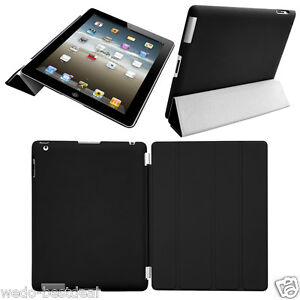 Ultra Thin Magnetic Smart Case Cover + Back Case For New Apple iPad 3 iPad 2