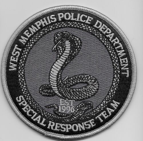 SWAT SRT W Memphis Police State Tennessee Tm Cobra patch Subdued