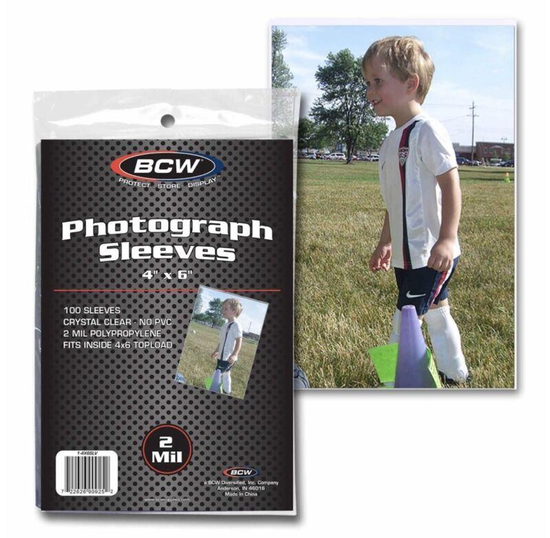BCW 1 Pack of 100 Holders 4 x 6 Photo Sleeves (#CS176)