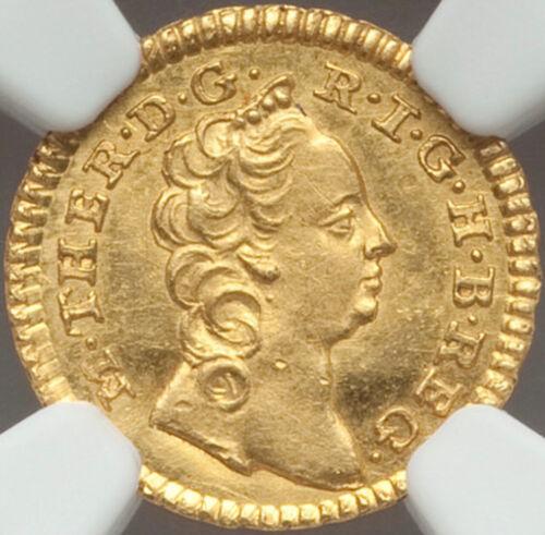 1749 Austria Romania Transylvania Maria Theresa gold 1/4 ducat NGC MS64 TOP POP
