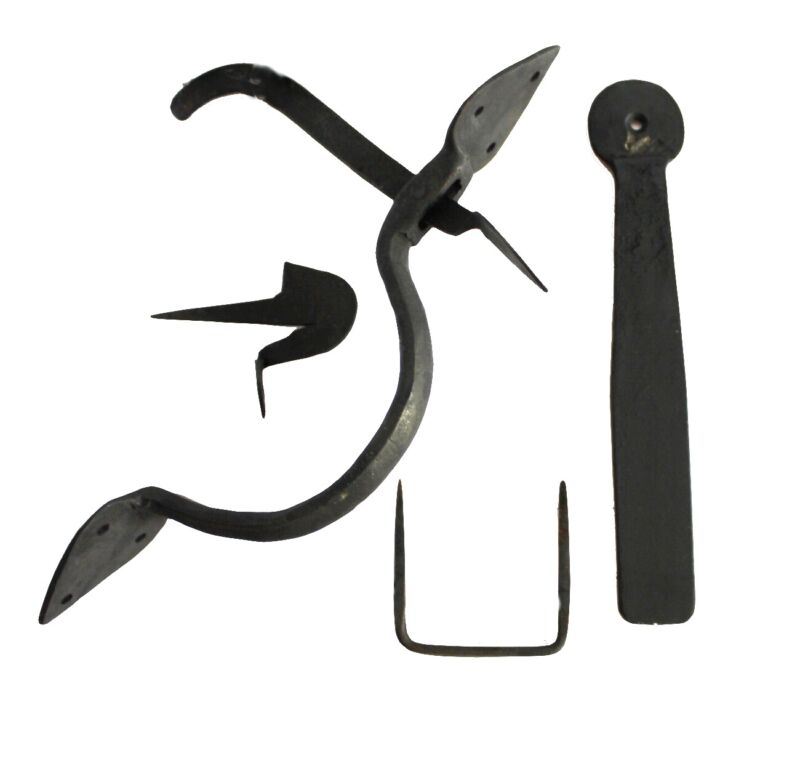 Colonial Wrought Iron SPEAR THUMB LATCH set hand made door hardware restoration