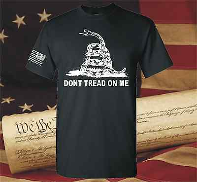 Dont Tread On Me Gadsden American Flag Conservative T Shirt Yellow Dont Dtom