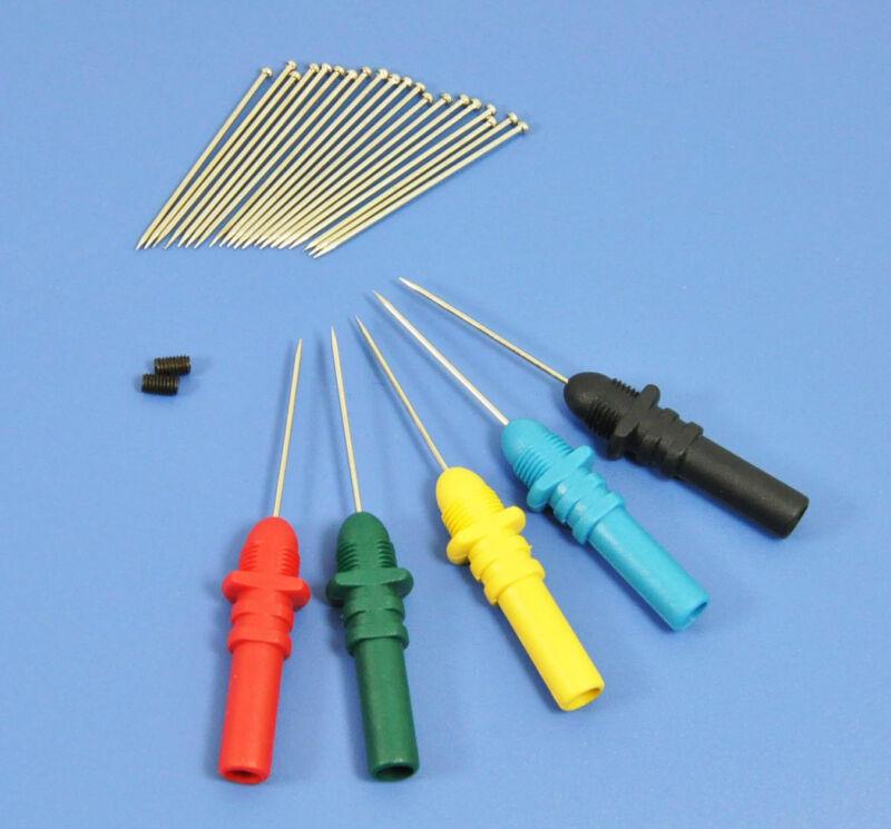 Hantek HT307 Back Pinning Probes Needle Piercing Probes Set 5 Assorted Colors