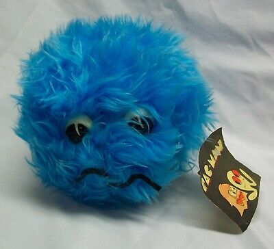 """VINTAGE 1970's Pac-Man BLUE GHOST 5"""" Video Game Plush STUFFED ANIMAL Toy NEW"""