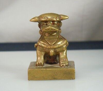 Chinese Bronze Foo Dog Chop Seal        52650