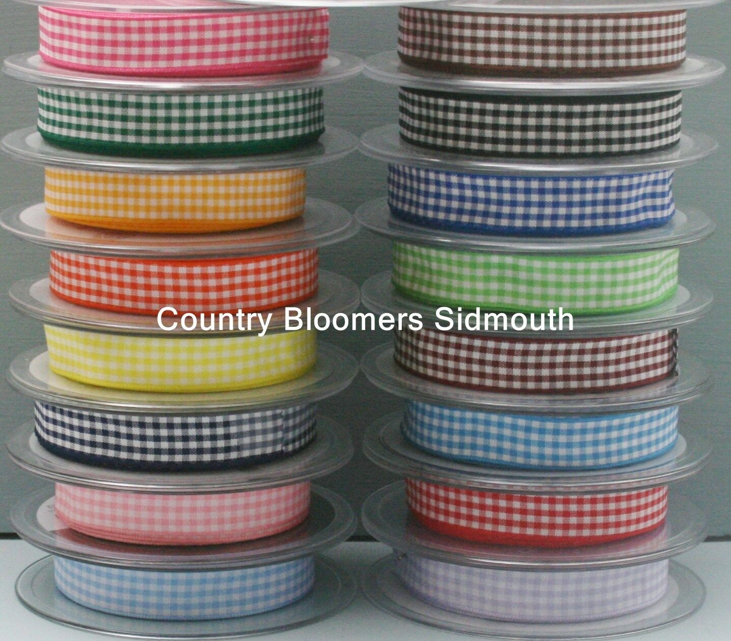 Berisfords Gingham Ribbon ~ Small Check ~ Natural ~ Rustic ~ 5mm - 40mm