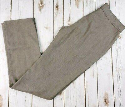 Moschino Jeans Pants Womens Brown Wool Blend Straight Medium 6 High Rise -