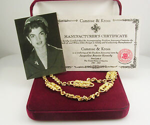 Jackie  Kennedy Paperclip Necklace w Original Packaging  27
