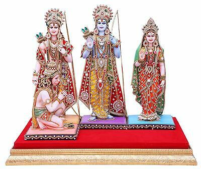 Ram Laxman (Handmade Hindu God Ram Sita Laxman Hanuman Statue Decor Gift Idol Wedding Gift)