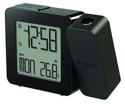 Oregon Scientific Projection Atomic Clock with Indoor Temperature Calendar Alarm