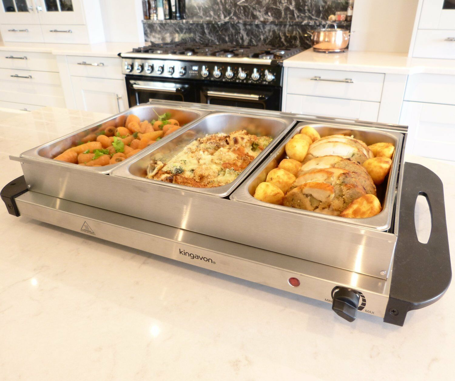 w stainless steel x l pan large buffet food server warmer 300w stainless steel 3x 2 5l pan large buffet food server warmer hot plate tray