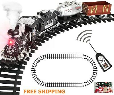 Train Sets Electric Remote Control Steam Sound Engine Toys Birthday Christmas fs