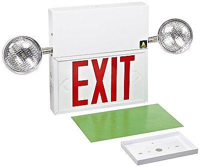 Brady Commercial Big Beam 80139 20 Ga Steel Emeregency Light With Lit Exit Sign