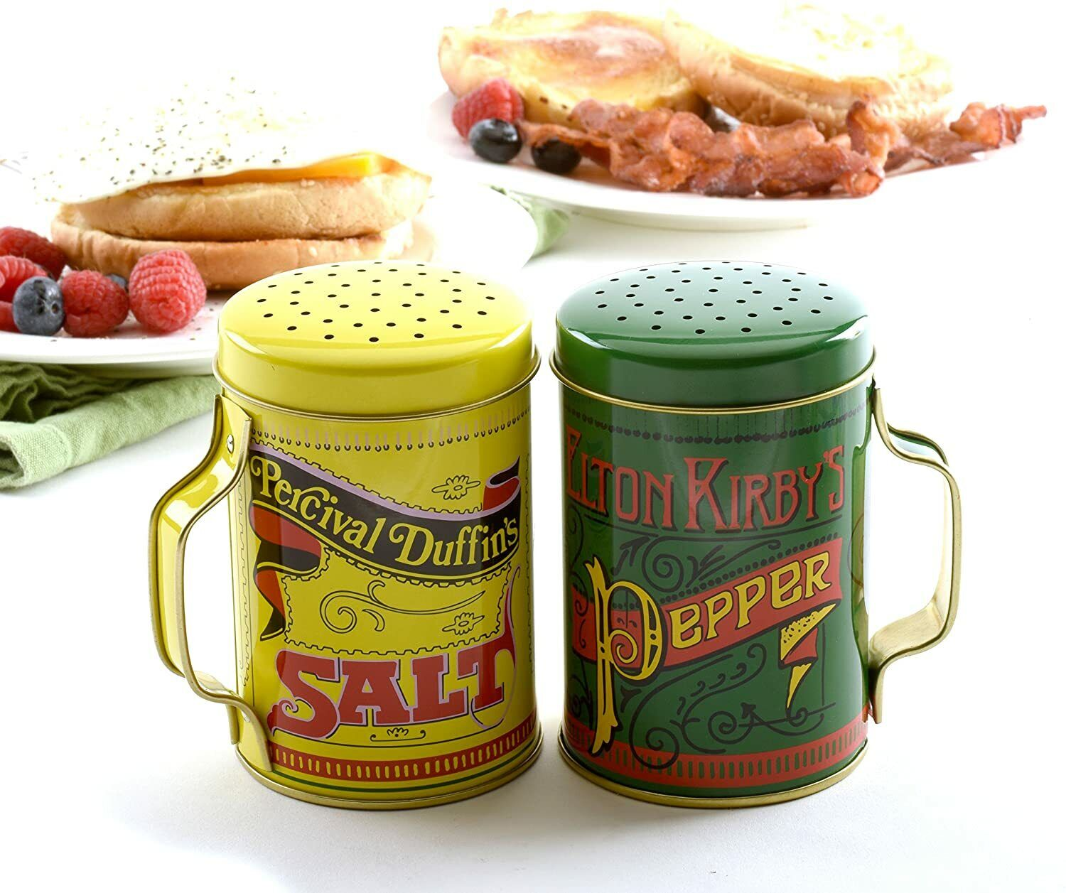 Salt And Pepper Shaker Set, 4in // 10cm 10oz Capacity, Multicolor Very Stylish - $9.99