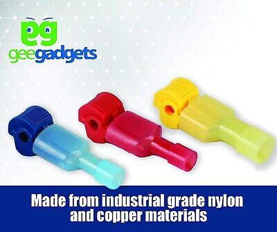 30 Self-stripping T-tap Wire Spade Connectors Multicolor Male And Female Splic