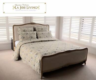 French Furniture Provincial Natural Oak Bed Frame (Queen or King)