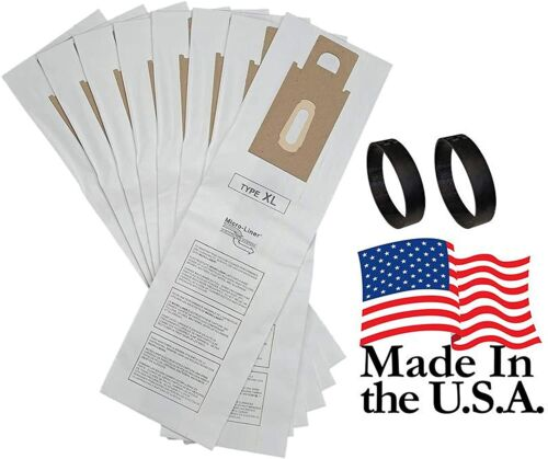 8 Allergen Bags for Oreck XL XL2 XL21Upright Vacuum Type CC + 2 Belts USA MADE