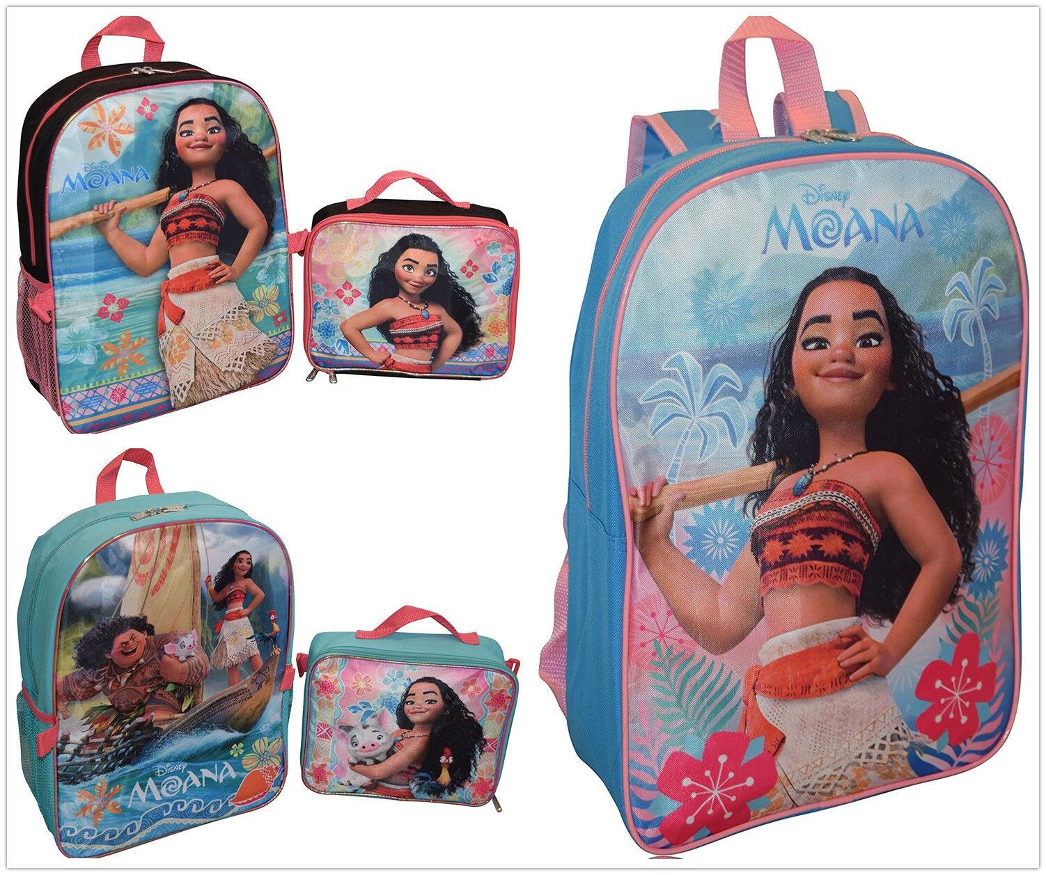 Disney Princess Moana School Backpack Bookbag Lunch box Set