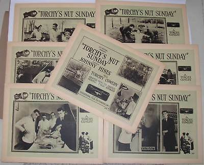 Set of 7 1922 lobby cards: Johnny Hines in Torchy's Nut Sunday, comedy