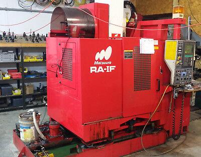 Used Matsuura Ra-1f Vertical Machining Center Mill W Pallet Changer Yasnac 1993