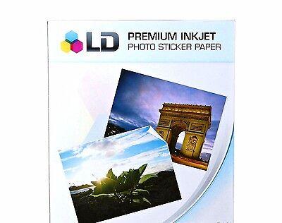 50 Sheets Sticker Paper White Glossy Inkjet Laser Printer Birthday Photo Decal