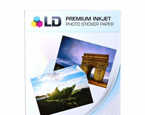 50 Sheets Sticker Paper White Glossy Inkjet Laser Printer Christmas Photo Decals