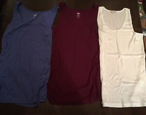 Lot of 3 Maternity tanks (XL) *brand new*