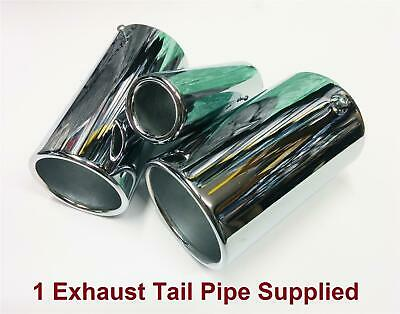 Sports Road 37mm-54mm Chrome Plated Steel Straight Exhaust Tail Pipe Kit Car Van
