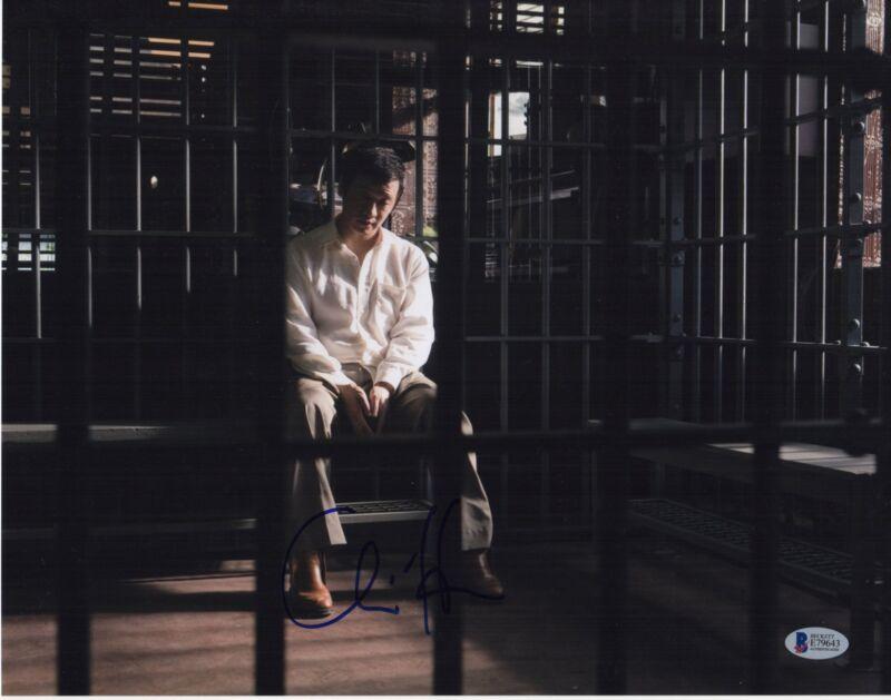 CHIN HAN SIGNED THE DARK KNIGHT PHOTO! 11X14 AUTOGRAPH PSA BAS
