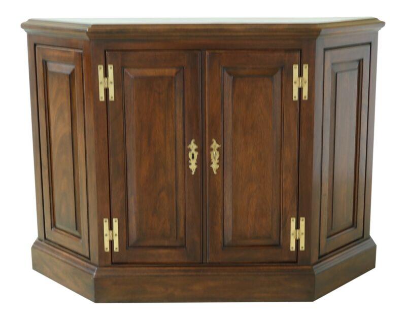 32237EC: HENKEL HARRIS Model 5700 Mahogany 2 Door Console Cabinet