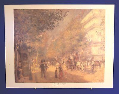 Les Grands Boulevards (1875) - Pierre Auguste Renoir - Superb Litho Print