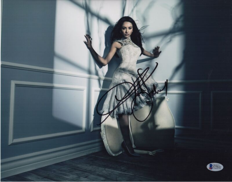 KAT GRAHAM SIGNED THE VAMPIRE DIARIES PHOTO 11X14 BONNIE AUTOGRAPH PSA BAS