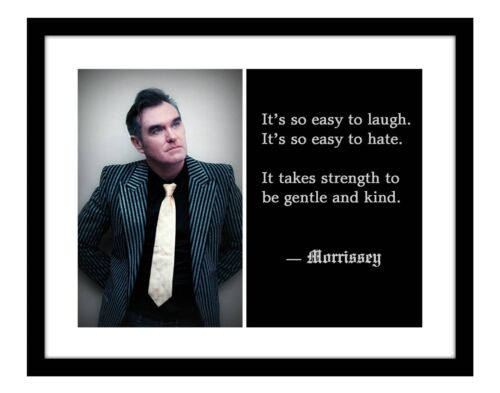 Morrissey 11x14 Photo Print Song Lyric The Smiths Concert Music