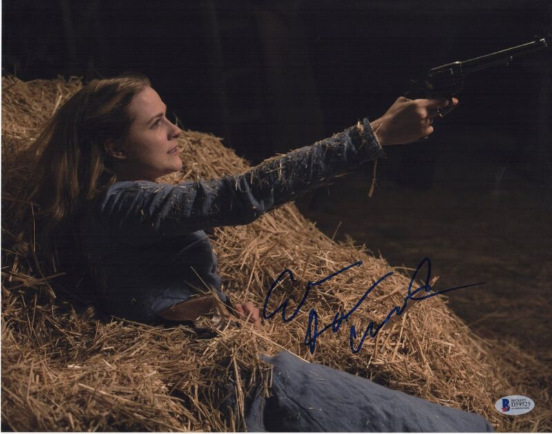 EVAN RACHEL WOOD SIGNED WESTWORLD PHOTO 11X14 AUTOGRAPH BAS COA