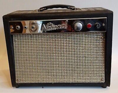"""National Guitar Amplifier Model 1210 8"""" All Tube Combo Valco 1962"""
