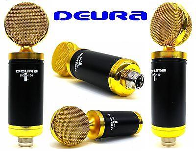 DEURA DCM-100 Large Diaphragm Phantom Power Studio Condenser BEST