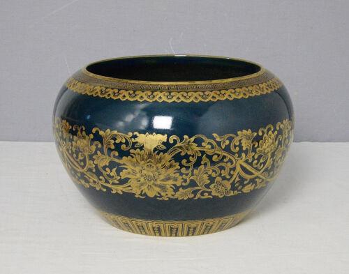 Chinese  Monochrome  Blue  Glaze  Porcelain  Pot  With  Mark     M1780