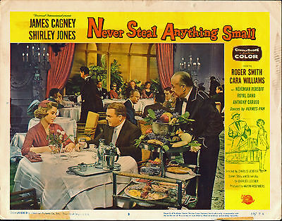 NEVER STEAL ANYTHING SMALL original 1959 lobby card JAMES CAGNEY/SHIRLEY JONES