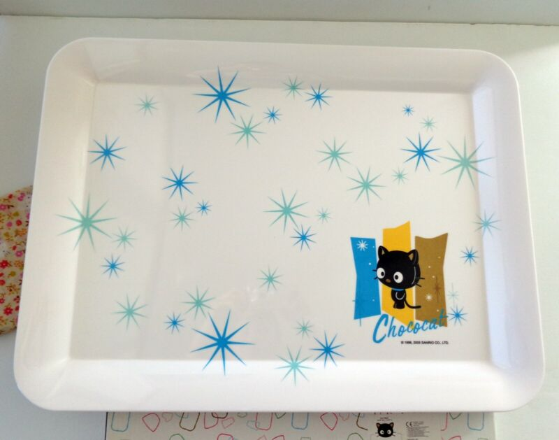 "Sanrio 2005 Chococat Melamine Serving Tray 19.5"" x 14.5"" NIB"