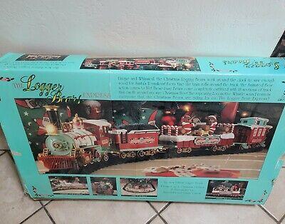 Santaland Express Christmas Train Set, Battery Operated, Logger Bears