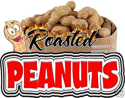 Roasted Peanuts Decal 14 Concession Cart Van Food Truck Vinyl Sign Sticker