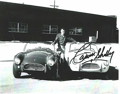 Carroll Shelby, High Quality Photo Print, signature RP with  Two Early Cobras