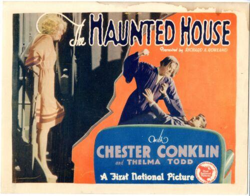Haunted House   Original Title Lobby Card    1928    FINE-    11 x 14  See photo